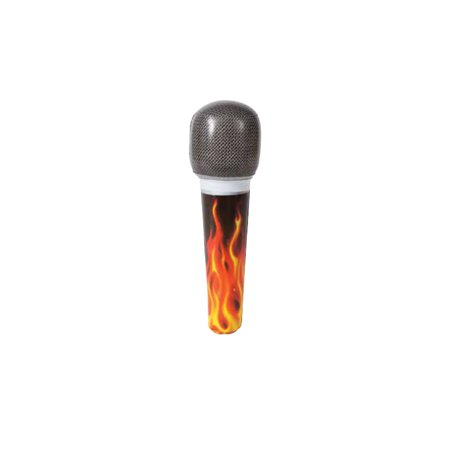 Inflatable Rock Star Microphone, 8 in, 1ct