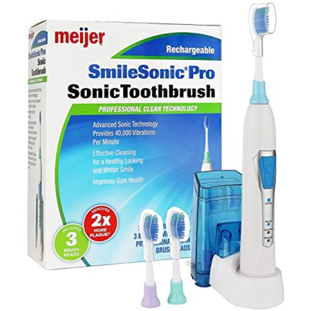 Meijer Sonic Pro Rechargeable Electric Toothbrush, 3 Brushing Modes, 2 Minute (Meijer Stores)
