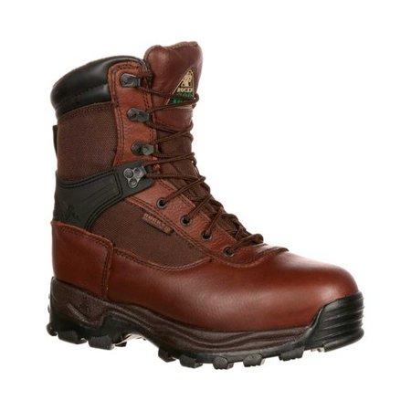 Work Utility Steel Toe Boot (Rocky Mens Sport Utility Pro Steel Toe Waterproof Brown Work Boots FQ0006486)