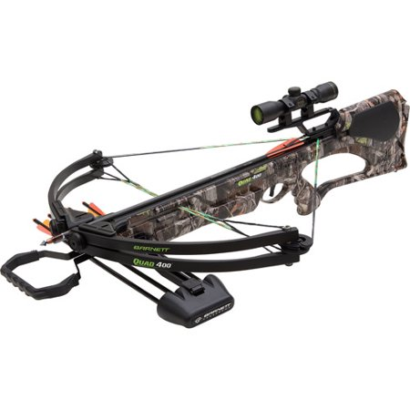 Barnett Quad 400 Crossbow Package, 150 lb with Red Dot Scope