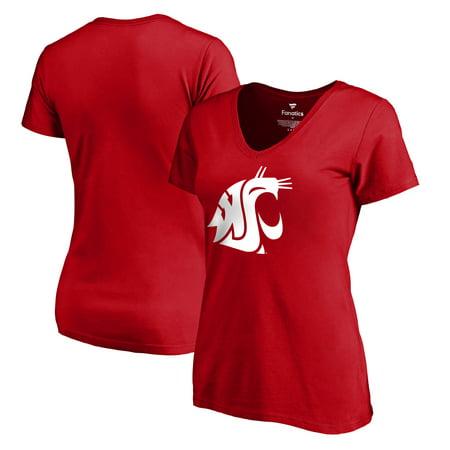 Washington State Cougars Fanatics Branded Women's Primary Logo T-Shirt - Crimson