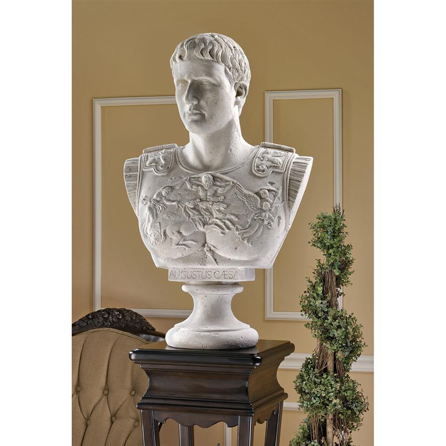 Design Toscano Caesar Augustus of Prima Porta Grand-Scale Sculptural Bust