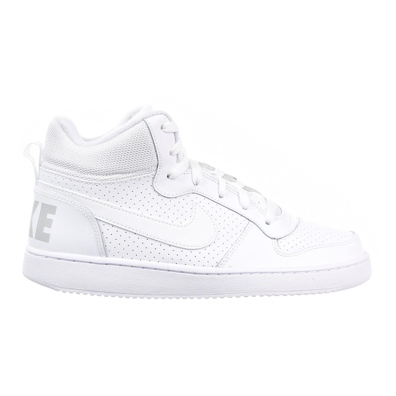 Nike Court Borough Mid Big Kid's Shoes White/White 839977...