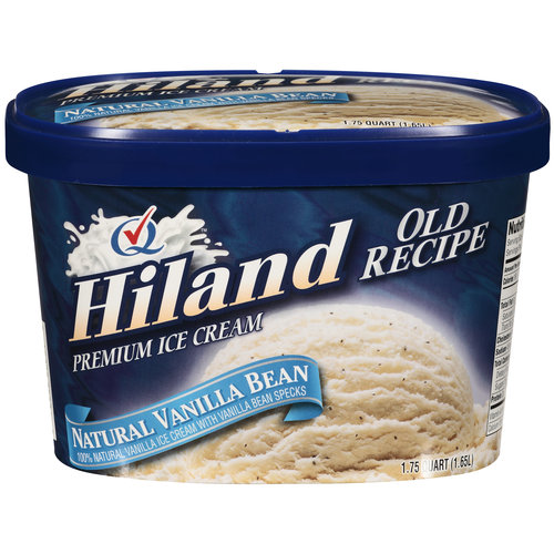 Hiland Old Recipe Premium Natural Vanilla Bean Ice Cream, 1.72 qt