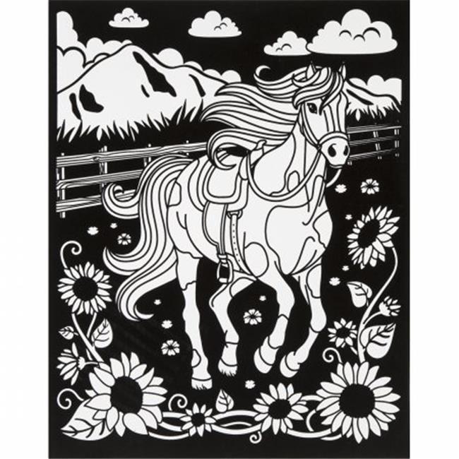 Color-In Velvet Poster 16''X20''-Horse - image 1 de 1