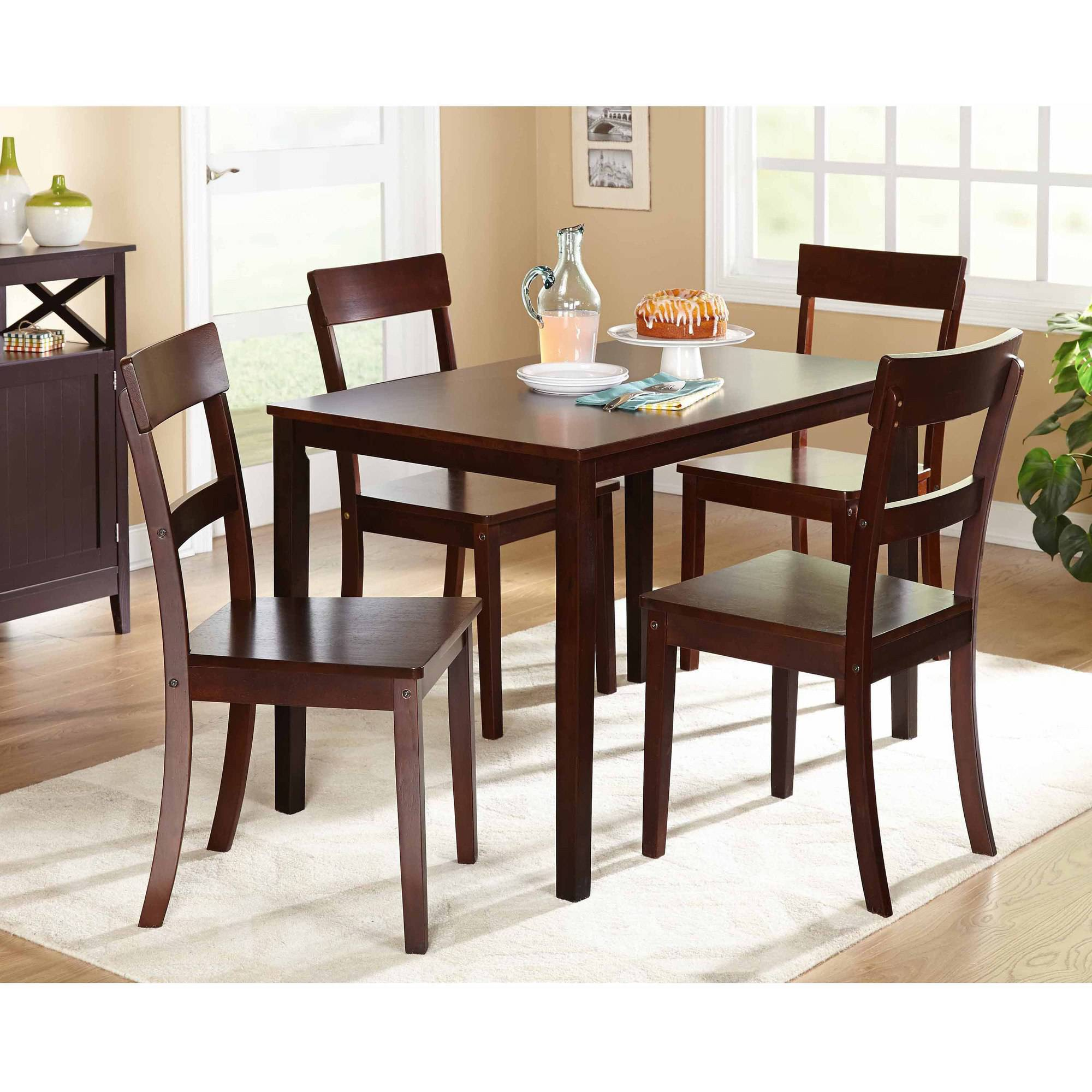 5 pc dining set Beverly 5 Piece Dining Set, Multiple Finishes   Walmart.com 5 pc dining set