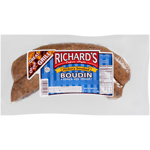 Richard's Cajun Style Hickory Smoked Boudin, 12 oz