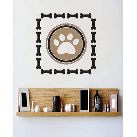 Custom Wall Decal Vinyl Sticker : Dog Paw Image Bedroom Bathroom Living Room Mural : 20 X20