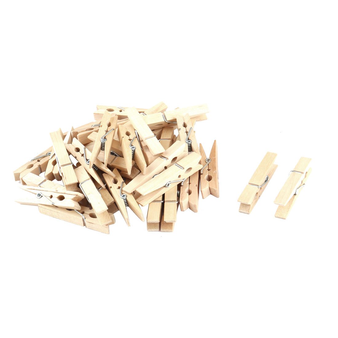 Household Wooden DIY Crafts Memo Post Card Photo Decor Clothespin Clip 36pcs