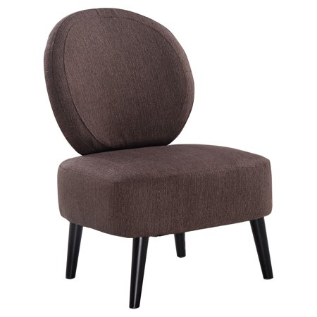 Costway Armless Accent Chair Round Back Dining Chair Home