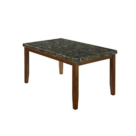 Ashley Furniture Signature Design - Lacey Dining Room Table - Rectangular - Contemporary with Faux Marble Top - Medium