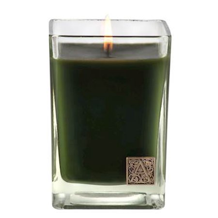 Vwr Glass (SMELL OF THE TREE  Aromatique Cube 12 oz Glass Scented Jar Candle )