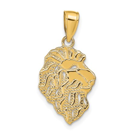 Designer 14K Yellow Gold Lion Head Pendant (Length=26) (Width=12) Made In Peru -Jewelry By Sweet Pea Creations Lion Head Golf Club
