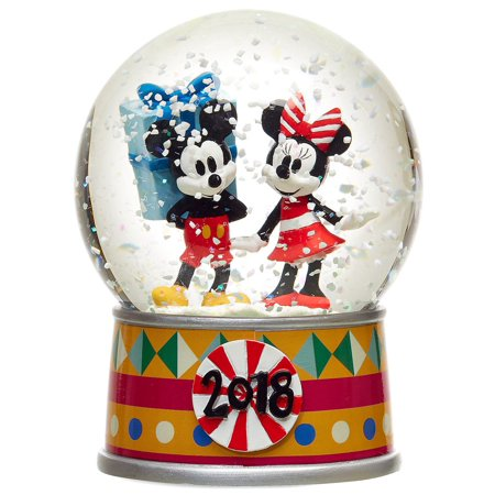 Disney Mickey Mouse Mickey and Minnie Mouse Holiday Snow Globe (Jcpenney Mickey Mouse Snow Globes)