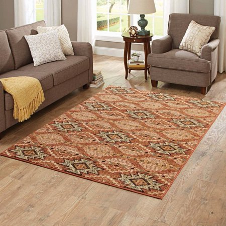Better homes and gardens terracotta southwestern area rug for Better home and garden rugs