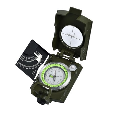 Proster Compass Professional Metal Sighting Direction Multifunction Military Army Outdoor Clinometer With Carry Bag For School Camping Hunting Hiking Geology Outdoor Activities