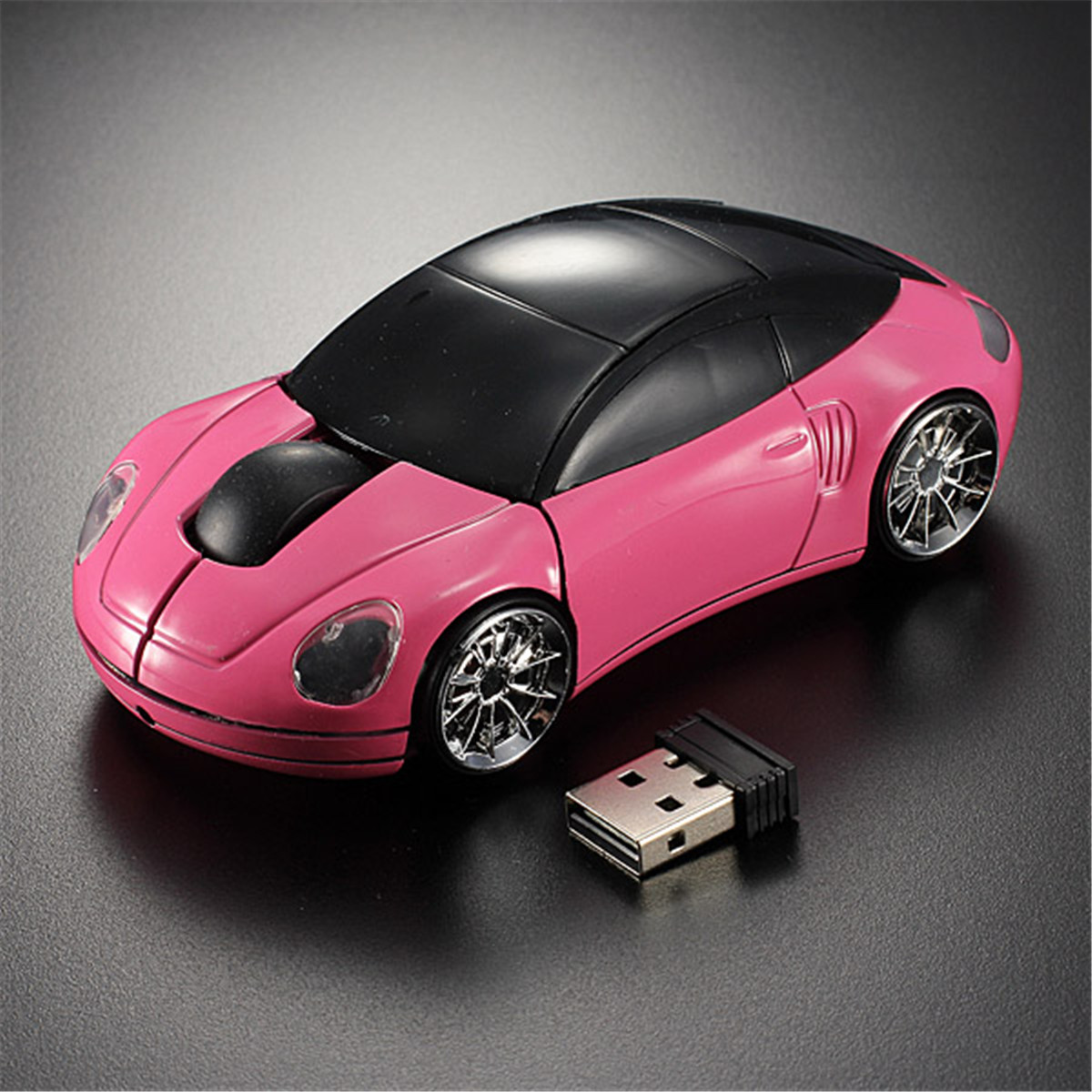 New USB Wireless Optical Mouse 2.4GHz 1600DPI 3D Car Shape Mice USB 2.0 Receiver for Laptop PC