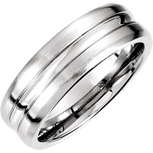 14K Yellow 7.5mm Fancy Carved Band 13.5
