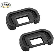 LXH (2 Pack) Rubber EyeCup Eyepiece Viewfinder Replacement CANON EB For Canon EOS 50D 40D 30D 20D 10D 5D Mark II 5D 5DM2 5D2 20Da 60D 6D 80D 70D 60Da 300D 300V 100D 500D 500N 700D 750D 850D (Eos 40d Viewfinder)