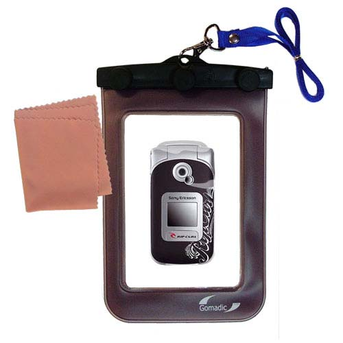 Gomadic Clean and Dry Waterproof Protective Case Suitablefor the Sony Ericsson Z530i to use Underwater