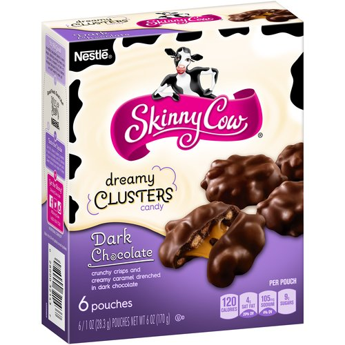 Skinny Cow Dreamy Clusters Dark Chocolate Candy, 1 oz, 6 count