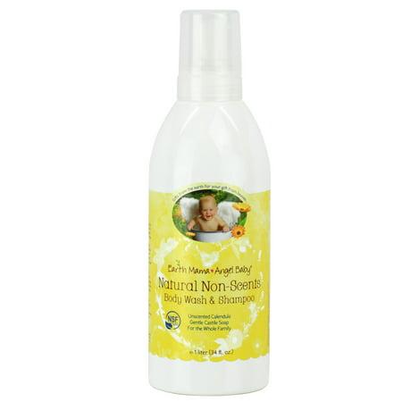Earth Mama Angel Baby Unscented Organic Shampoo And Body Wash  34 Fl Oz