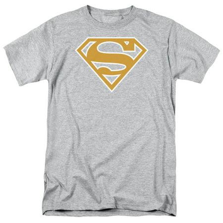 Superman - Lt Orange & White Shield - Short Sleeve Shirt -