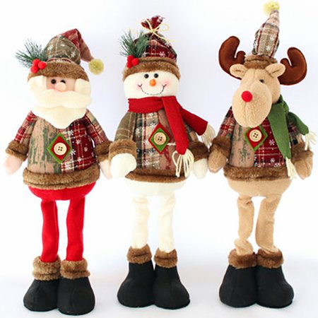 Household Christmas Decoration Dolls Santa Claus Elk Snowman Window Decoration Christmas Supplies ()