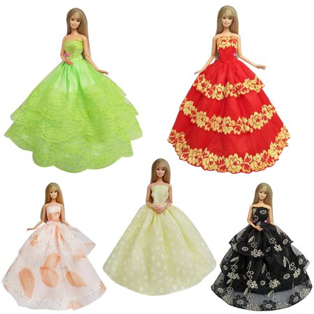 Jenny Fashion Doll - 5pcs Fashion Handmade Lace Party Dress Set for Doll/Jenny Doll Girls Gift