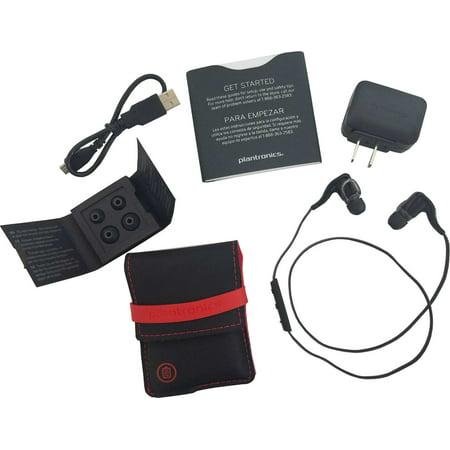 Plantronics BackBeat Go 2 Stereo Bluetooth Black Headphones + Charging Case- Refurbished Backbeat 903 Stereo Bluetooth