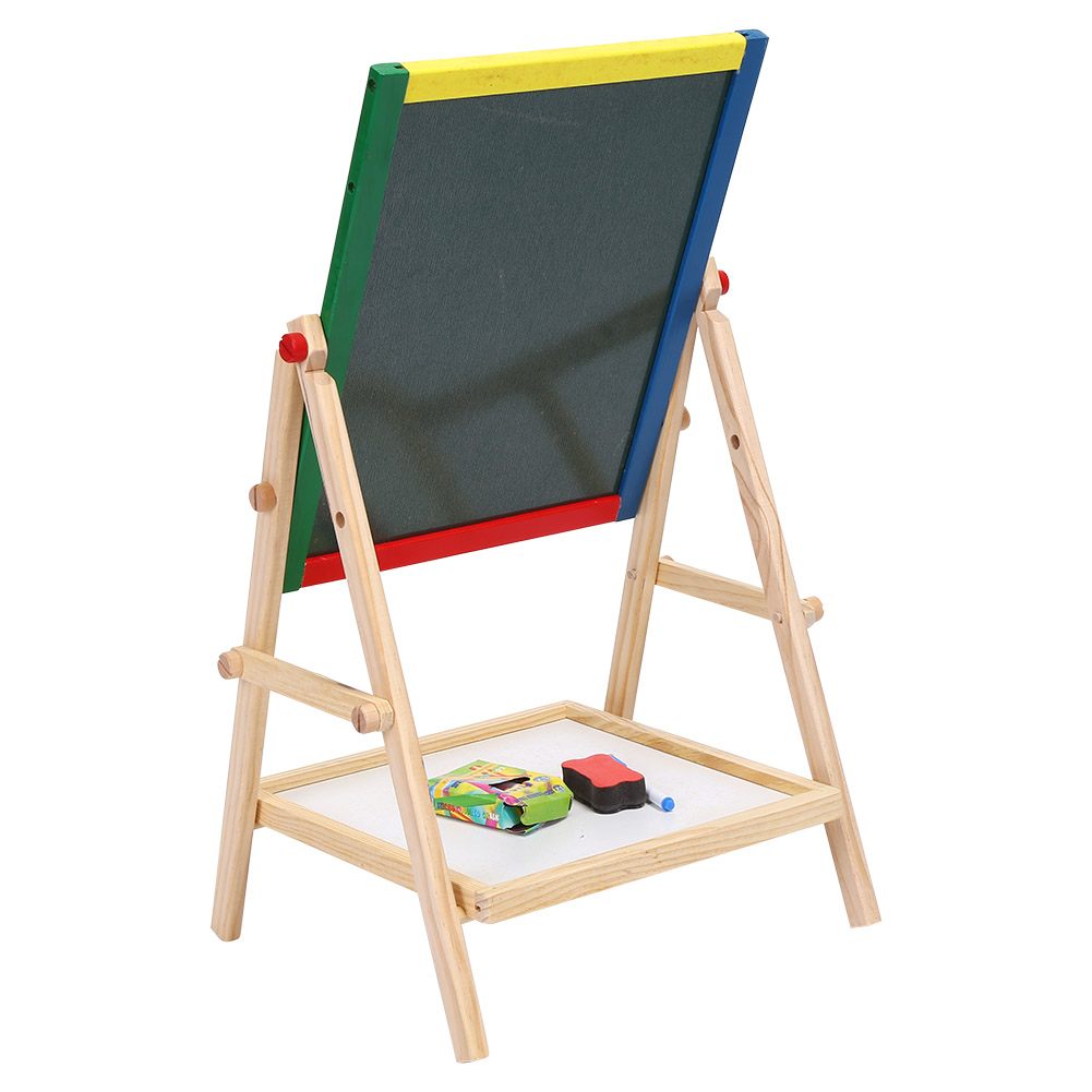 drawing easel board kids bedroom free standing 2 in 1 black white
