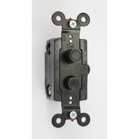Clic Accents Single Pole Black On With Logo Antique Style Push Light Switch