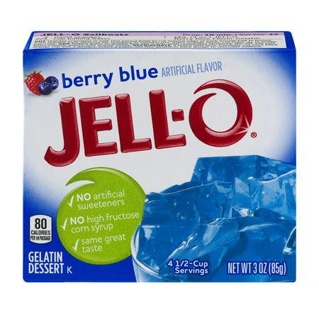 Jell O Gelatin Dessert Berry Blue  3 Oz