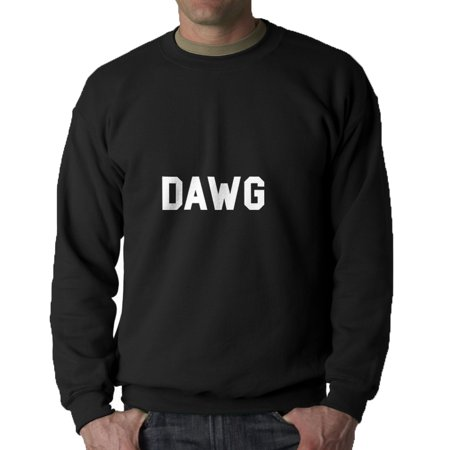 Dawg Internet Slang Words Men's Black Sweatshirt - image 1 de 1