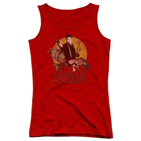 Firefly - I Aim To Misbehave Junior Tank Top - Junior Tank Top / M / Red