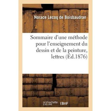 Sommaire d'Une M�thode Pour l'Enseignement Du Dessin de la Peinture Lettres � Un Jeune - Un Dessin D'halloween