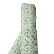 """54"""" x 4 Yards Silver Sage Beaded Sequin Tulle Fabric by the Bolt"""