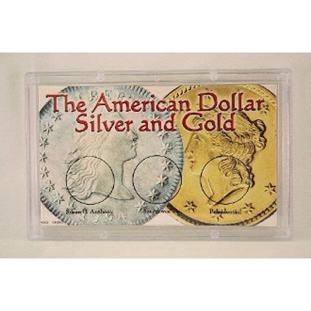 The American Dollar - Silver & Gold, 3x5 Snap Tite Coin Storage