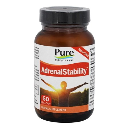 Pure Essence Labs - AdrenalStability - 60 Vegetarian Capsules ()