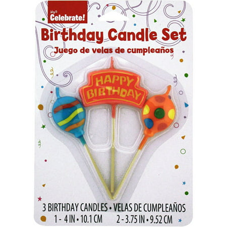 Happy Birthday Candles 3ct