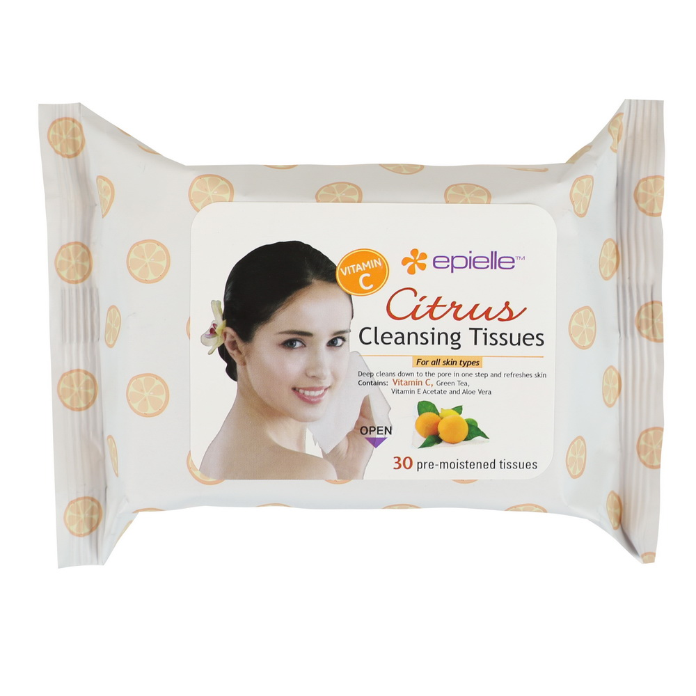 Epielle Citrus Facial Cleansing Tissues, 30ct Christian Dior - Capture Lift Ultra-Stretch Reshaping Serum -50ml/1.7oz