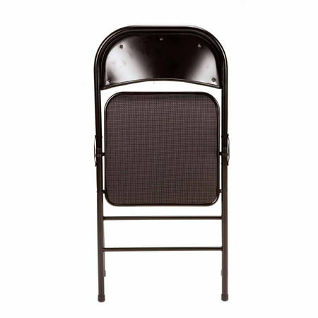 Mainstays Padded Fabric Folding Chair, 4-Pack, Black