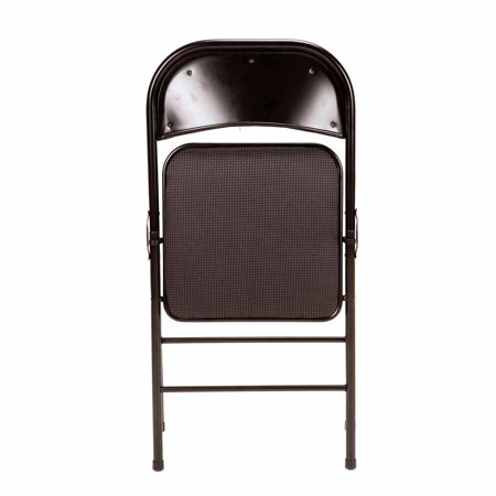 Mainstays Padded 4 Pack Fabric Folding Chair In Black