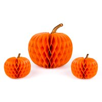 "Quasimoon 12"" Halloween Pumpkin Honeycomb Tissue Lantern Balls Combo Kit (3-PACK) by PaperLanternStore"