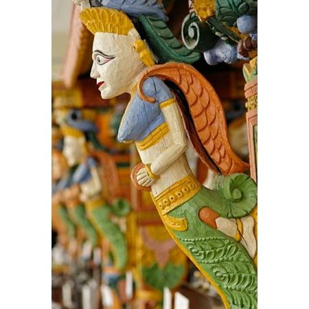 Blue Hand Carved Wood (Wood carving Raj Palace Hotel Jaipur India Poster Print by Adam Jones)