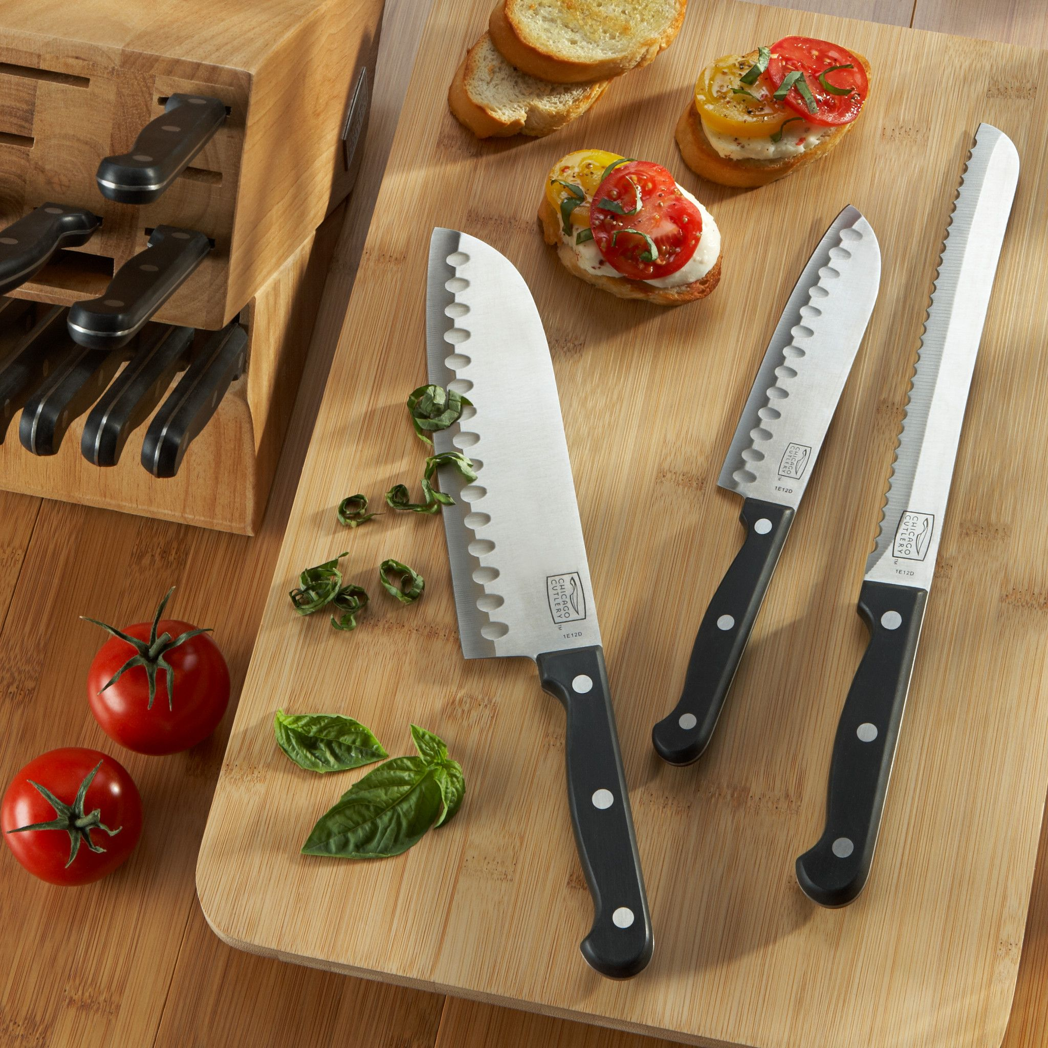 Chicago Cutlery Essentials 15-Piece Knife Block Set