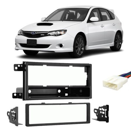 Subaru Impreza 2008-2011 Single DIN Stereo Harness Radio Install Dash Kit New (Subaru Stereo Kit)