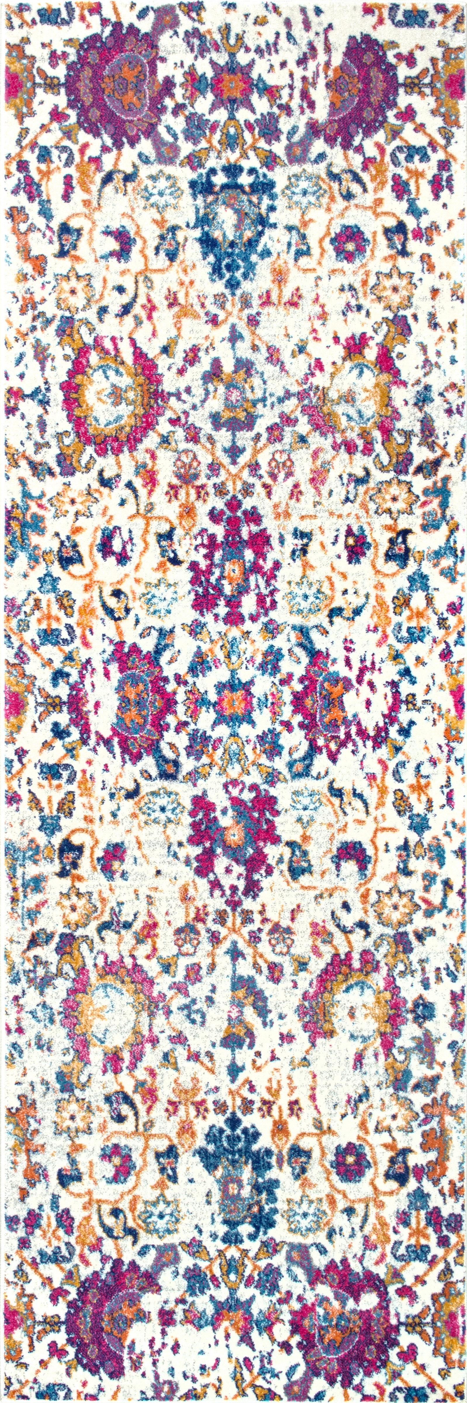 nuLOOM Floral Damask Rosemary Area Rug or Runner by nuLOOM
