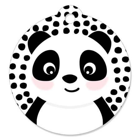 Party Like a Panda Bear - Baby Shower or Birthday Party Favor Gift Tags (Set of 20)](Panda Bear Party Supplies)