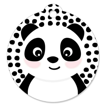 Party Like a Panda Bear - Baby Shower or Birthday Party Favor Gift Tags (Set of 20)